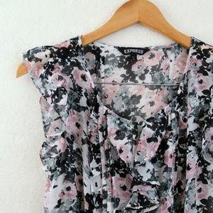 EXPRESS Floral Top